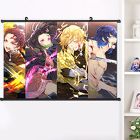 2019 Anime Demon Slayer: Kimetsu no Yaiba Agatsuma Zenitsu Wall Scroll Poster Manga Hanging Poster Home Decoration 40 * 60cm T200414