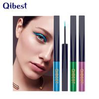 Qibest العلامة التجارية 15 اللون مقاوم للماء ماتي مستحضرات التجميل ظلال العيون كحل أسود أزرق طويل الأمد مثير الساحرة السلس العين اينر القلم