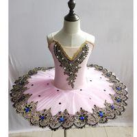 Ballet professionnel Tutu filles Ballet danse robe Lac des Cygnes Tutus Costumes pour enfants Kid ballerine robe de bal de danse fille