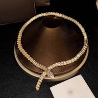 Python Necklace Top Joyas de alta calidad para las mujeres colgantes de serpientes collar grueso collar fino personalizado joyería lujosa aaa circón