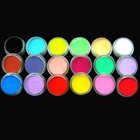 18 kleuren acryl poederdecoratie voor nail art poeder glanzende glitter stof UV poeder stof kit decoratie