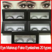 El maquillaje de ojos pestañas falsas pestañas extensiones de pestañas falsas hechas a mano pestañas voluminosas del maquillaje de los ojos 20 estilos