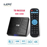 New T9 Android TV Box 8.1 4GB 32GB caixa android Smart TV streaming de caixas Bluetooth WiFi 1000M Lan Rockchip RK3318 quad core