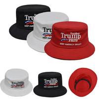 Unisex Trump 2020 Kap Kova Şapka Kadın Erkek Güneş Şapka Amerika tutmak Için Büyük Başkan Açık Plaj Kap DHL G ...