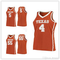 Texas Longhorns College # 4 Mohamed Mo Bamba Basket Blay Jersey # 5 Royce Hamm Jr. # 55 Elijah Mitrou-Long Mens Stitched Numero personalizzato Nome numero