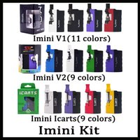 Kit 100% originale Imini V1 V2 icarts con cartucce 0.5 / 1.0ml Preriscaldamento batteria Mod Fit Liberty Cartridge Vs Vmod Palm Battery