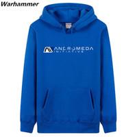 Men's Hoodies & Sweatshirts Mass Effect Men Andromeda Initiative Fleece Printing Fashion Customized Black 3XL Pullover Winter Tracksuit