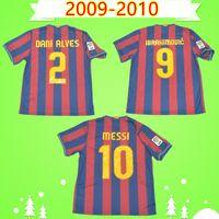 Barcelona jersey barca # 10 MESSI # 9 Ibrahimovic 2009 2010 Retro Fußball-Trikot Pedro nach Hause klassischen Vintage-Fußballhemd Henry Camiseta de futbol 09 10 A.INIESTA