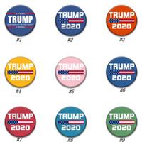 Trump Broschen 2020 Trump President Wahl Banner Abzeichen America Great Again Donald Trump Wahl Armband Abzeichen Party Supplies ZZA1876