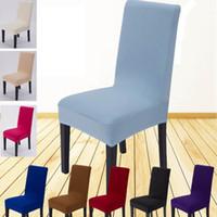 14 اللون الصلبة تمتد مأدبة غطاء كرسي الأغلفة غرفة الطعام حفل زفاف مهرجان فندق كرسي قصير يغطي زينة SH-C02