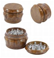 Bois broyeur tabac Grinder 2019 nouveau 4 pièce 40m 50 mm 55 mm 63 mm Set moulins à fumer métal en forme de tambour receveur de presse de pollen DHL