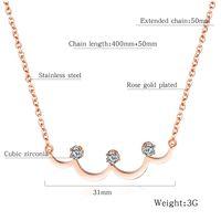Frauen Charme Choker Mode Halskette Frau Schmuck Kristall Strass Design Edelstahl 18 Karat Gold Anhänger Halsketten für Womens