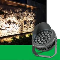 屋外LEDスポットライトRGBカラー36W 24W 15W AC85-265V 220V 12V-24V 120-130LM / W PF0.9赤い青の防水洪水ライトランプの風景照明