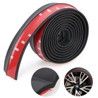 Nueva llegada 2,5M 1pc * 6cm delantero universal Lip Bumper divisor del cuerpo de coche de labios de la falda del ajuste del alerón protector para coches camiones SUV