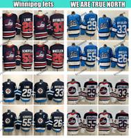 2019 헤리티지 클래식 위니펙 Jets Hockey Jerseys 55 Mark Scheifele 29 Patrik Laine 26 Blake Wheeler 33 Dustin Byfuglien Light Blue Shirts