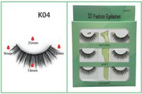 3 pairs lot Fluffy 3D Faux Mink False Eyelashes Natrual Long...