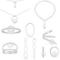 Moda cópia 925 prata cópia 1: 1, pavé pavé pérola Monaco jóia para a jóia das mulheres presente de Natal Novo Ano