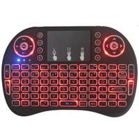Мини i8 беспроводная клавиатура Подсветка Подсветка 2.4G воздуха Мышь Клавиатура дистанционного управления Сенсорная панель для смарт Android TV Box ноутбуков Tablet PC
