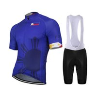 2019 New Team Philippines New summer Blue Cycling Jersey Set...