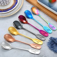 Cartoon Flamingo Handled Spoons 304 Stainless Steel Thickening Meal Spoon Kids Soup Scoops Mirror Polished 5 2ry E1