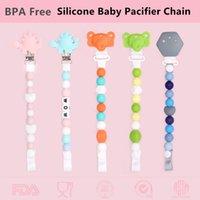 Chenkai 1PC BPA Free DIY Silikon Bebek emziği Sahte diş kaşıyıcınız Zinciri Tutucu Klipler Silikon diş kaşıyıcınız Takı Klipler Oyuncak
