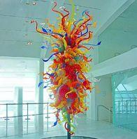 크리스탈 유리 조각 멀티 컬러 인테리어 장식 손 불어 유리 나무 바닥은 대형 호텔 로비 무라노 유리 조각 상태를 램프