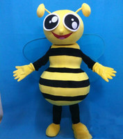 High quality hot a big eyes honey bee mascot costumes for ad...