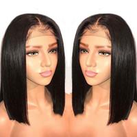 Nouveau style à la mode de la dentelle de la dentelle de la dentelle de la dentelle des femmes européennes et américaines Noir cheveux courts chimiques chimiques fibre chimique usine en gros