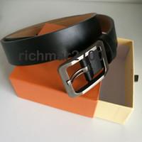 Hombres moda flor caso liso cinturones de cuero genuino primera capa de cuero pin hebilla cinturón marca hombres moda de lujo cinturón de cintura para hombres