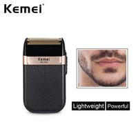 KEMEI KM-2024 ماكينة حلاقة كهربائية للرجال التوائم بليد ماء متردد اللاسلكي الشفرة USB قابلة للشحن الحلاقة آلة حلاقة المتقلب