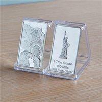 Amerika Birleşik Devletleri Kartal Liberty 1oz 0,999 Gümüş Kaplama Koleksiyon Bar Külçe ABD