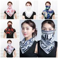 Frauen-Schal-Gesichtsmaske aus Seidenchiffon Handkerchief im Freien windundurchlässigen Helfen Face Staubschleier Sonnenschutz-Masken-Schal Staubmaske T2I5797