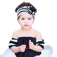 8 Farben netter Baby-gestreifter Knoten Stirnband-Mädchen Headwraps Turban Stirnband-Säugling Bandanas Haarreif Phtography Props Partei-Bevorzugung RRA3089