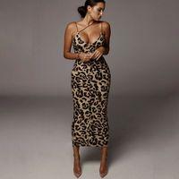 여성 여름 드레스 섹시한 V 넥 레오파드 뱀 긴 등이없는 드레스 파티 Bodycon의 행사 슬립 스키니 매일 착용 드레스를 인쇄