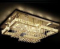 New Modern Luxury Pandant Lichter rechteckige LED K9 Kristall-Kronleuchter Deckenmontage Fixutres Foyer Lampen-Lichter für Wohnzimmer MYY