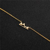 hollow mountain peak Hill chain bracelet nature Snow outdoor Adventure top climbing Sports hobby Mount Everest Lucky woman mother men's family gifts jewelry