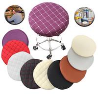 Ronde Stoel Cover voor Bar Kruk Effen Kleur Elastische Seat Protector Gewatteerde Snipcovers voor Thuis Diner Kamer Wasbare Stoel Hood