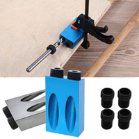 6/8 / 10mm Pocket Gat Jig Kit Houtbewerking Hoekboorgeleider Set 8 Stks Hole Puncher Locator Jig Boor Bit voor Timmerwerk Tool