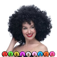 New Short Afro Wigs Halloween Party Dress Funny Clown Wig Pr...