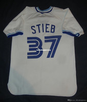 Cheap Retro Dave Stieb # 37 Toronto Branco Jersey shirt jerseys Médio Mens costurado beisebol