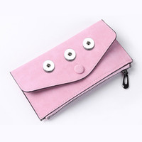 Aging Treatment Bag Snap Button Purse Pu Leather Wallet Bags Charms Bracelet Jewelry For Women Fit 18mm Button