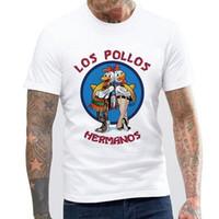 Camisa Breaking Bad de la moda de los hombres Camiseta Los Pollos Hermanos Chicken Brothers Camiseta divertida de manga corta Hipster Venta caliente Tops camiseta