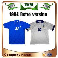 1994 Versão Retro Itália Jersey Jersey 94 Home Maldini Baresi Roberto Baggio Zola Conte Soccer Shirt Afastado Nacional Equipe Futebol Uniformes