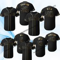 2019 Golden Edition Jersey 35 Crawford Belt Joe Panik 윌 스미스 Jeff Samardzija Johnny Cueto Baseball Jerseys
