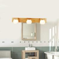 Lampada da parete moderna G4 a LED 110v 220v lampada da parete per bagno lunga in legno