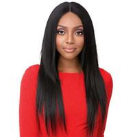 Femmes de haute qualité nouvelle coiffure soyeuse droite simulation cheveux longs perruque soyeuse droite en stock livraison gratuite