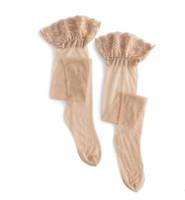 Удлинение колена мерсеризованный блеск сексуальные кружева кружевные чулки высокие чулки toe прозрачный апелляция шелковые чулки