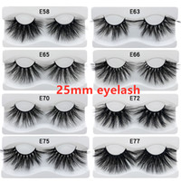 100% 25mm lashes 3D Mink Eyelashes False Eyelashes Crisscros...