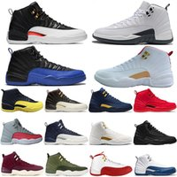 2019 New FIBA ​​Reverse Taxi Game Royal 12 12s Scarpe da pallacanestro Bordeaux GS CNY Michigan White Grey Gym Red Mens Scarpe da ginnastica Sneakers da uomo