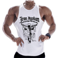 New Bodybuilding Tank Tops Men Gyms Fitness Workout Cotton S...